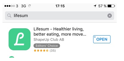 Search result for Lifesum