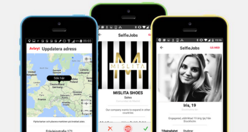 Selfiejobs: refreshing the job hunting for talents